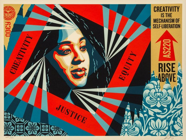 Shepard Fairey, 'Creativity, Equity, Justice', 2019, Heritage Auctions
