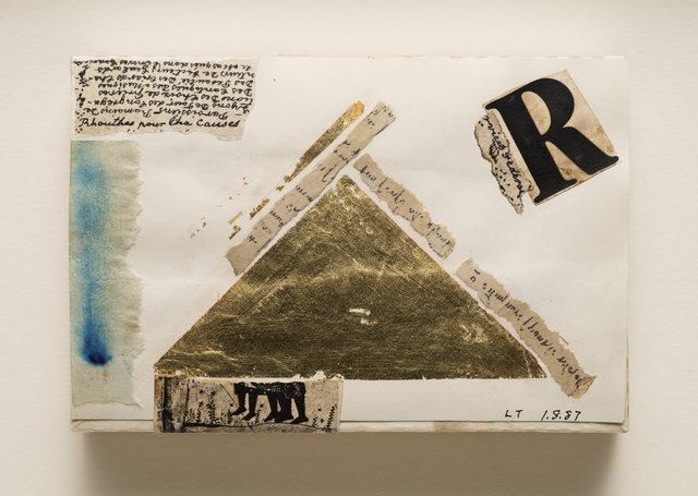 Lenore Tawney, 'Untitled (Pyramid)', 1987, Drawing, Collage or other Work on Paper, Mixed media on paper mounted on paper box, Aaron Payne Fine Art