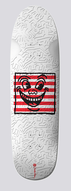 Keith Haring, 'Keith Haring Smiley Face Skateboard Deck ', 2018, Lot 180