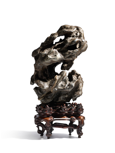 Ming Dynasty, 'A large vertical lingbi scholar's rock', Ming Dynasty (1368-1644), Other, Lingbi rock, Maria Kiang Chinese Art