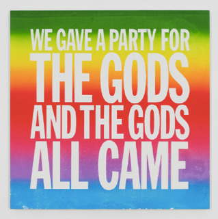 , 'WE GAVE A PARTY FOR THE GODS AND THE GODS ALL CAME,' 2017, Cahiers d'Art