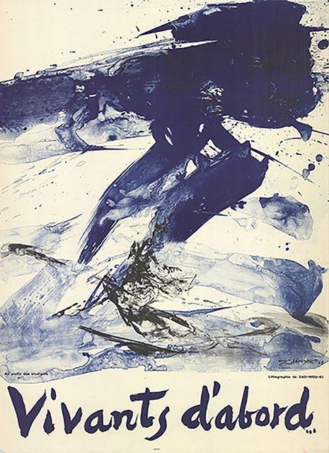 Zao Wou-Ki 趙無極, 'Vivants D'Abord', 1968, ArtWise