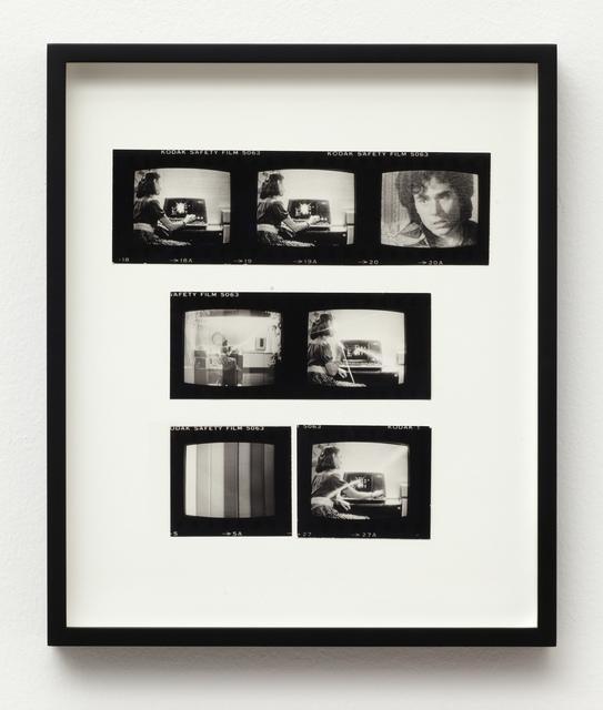 , 'Pop-Pop Video: Kojak/Wang, 4 Contact Sheet fragments,' ca. 1980, Wilkinson