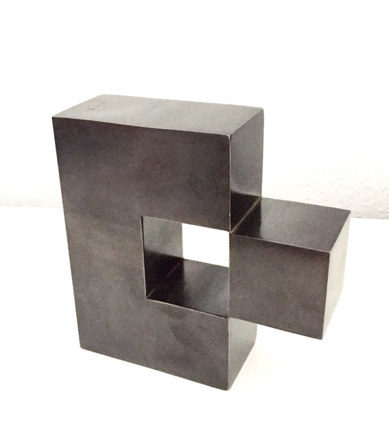 Stephan Siebers, 'ISOLATED CUBE', 2017, Sculpture, Solid steel with patina, Galerie Floss & Schultz