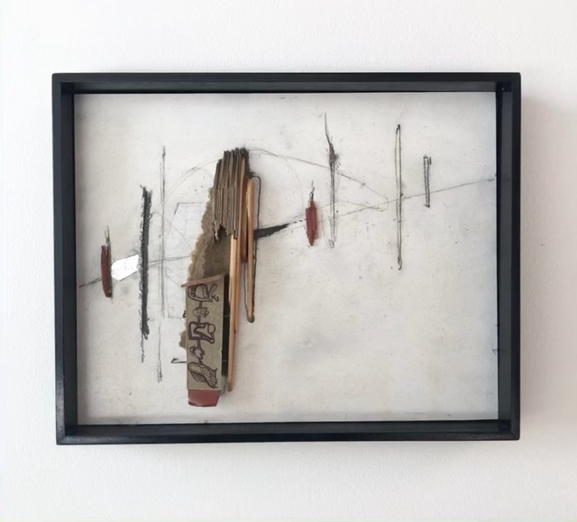 Kelton Osborn, 'Aufkratzen', 2011, Painting, Mixed media with collage, rubber and graphite on panel, Michael Warren Contemporary