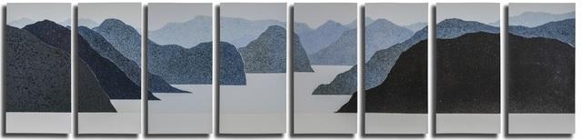 Haiying Hu, 'Landscape', 2020, Sculpture, Ceramic, 8 pieces, Gallery LEE & BAE