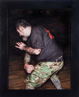 , 'Agnostic Front - Camo Study,' 2014, Jonathan LeVine Projects