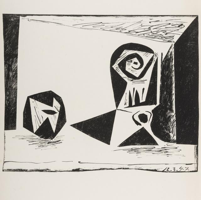 Pablo Picasso, 'Composition au verre à pied (Bloch 431; Mourlot 77)', 1947, Forum Auctions