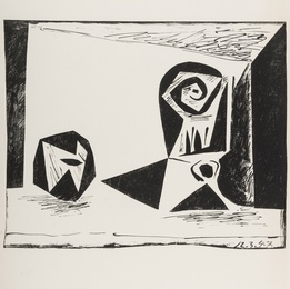 Pablo Picasso, 'Composition au verre à pied (Bloch 431; Mourlot 77),' 1947, Forum Auctions: Editions and Works on Paper (March 2017)