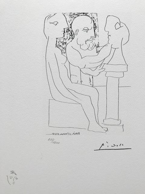 Pablo Picasso, 'Vieux sculpteur au travail I (Suite Vollard Planche XLVII)', 1973, ByNewArt