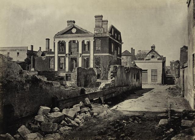 George N. Barnard, 'Ruins of the Pinckney Mansion, Charleston, South Carolina, from Photographic Views of Sherman's Campaign', 1865, Photography, Albumen print, San Francisco Museum of Modern Art (SFMOMA)
