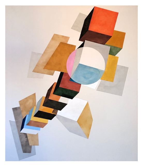 Tuomas Korkalo, 'Composition For Circle', 2020, Mixed Media, Watercolour, sumi-ink and acrylic on canvas, BBA Gallery