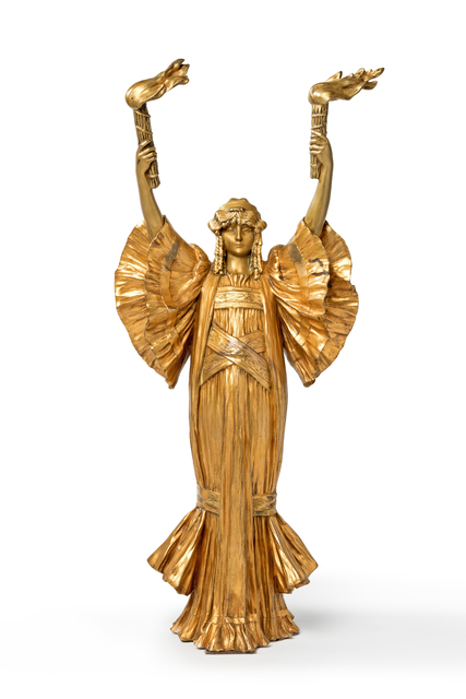"Agathon Léonard, '""Danseuse au flambeaux"" ', ca. 1900, Sculpture, Gilded Bronze, Art 1900"