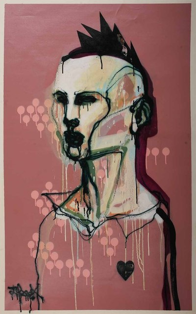 Titi Freak, 'Traido', 2008, Painting, Spray paint on canvas, Jonathan LeVine Projects