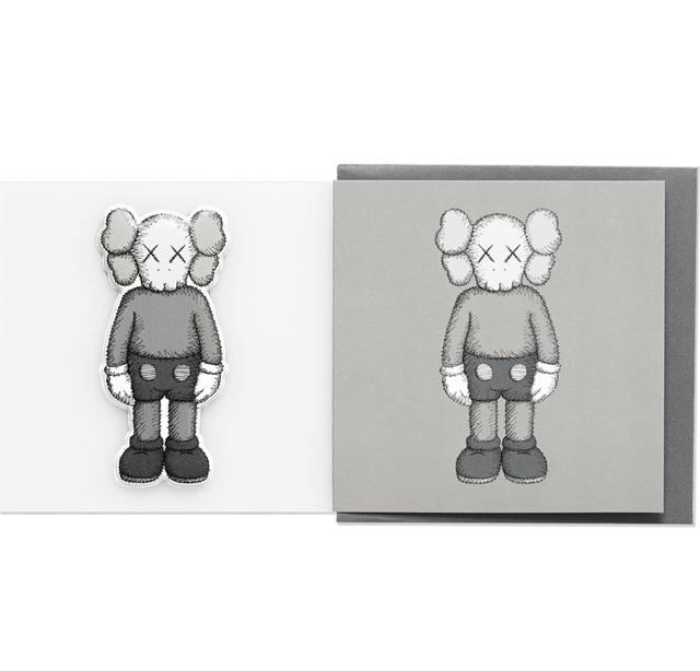 KAWS, 'KAWS x NGV Companion Greeting Card with Puffy Sticker (Grey)', 2019, Curator Style