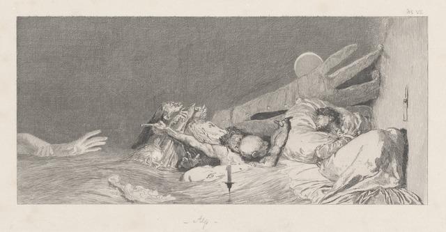Max Klinger, 'Anxieties (Ängste)', 1878/1880, National Gallery of Art, Washington, D.C.