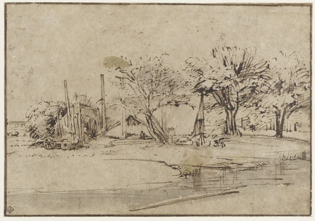 , 'Landscape with Cottage, Trees, and Stream,' ca. 1650, The Frick Collection