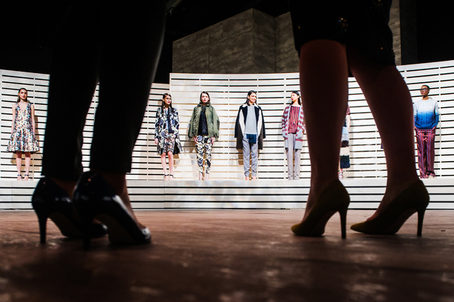 , 'Models line up during J.Crew's presentation in Lincoln Center. New York Fashion Week, Fall 2014.,' 2014, Anastasia Photo