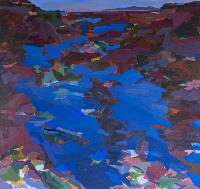 Sol Zaretsky, 'Water In Dark Reds & Blues ', ca. 1999, Stellars Gallery