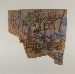 Timelessness of Life Series: Paperboy Sells Call and Post Newspaper