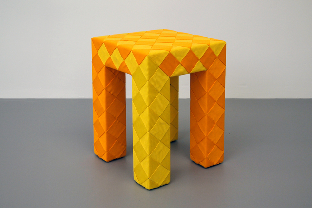 , 'Checkered Stool,' 2016, Giovanni Beltran