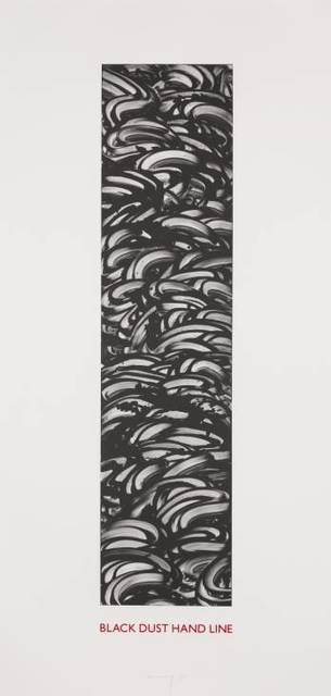 Richard Long, 'Black Dust Hand Line', 1990, inde/jacobs