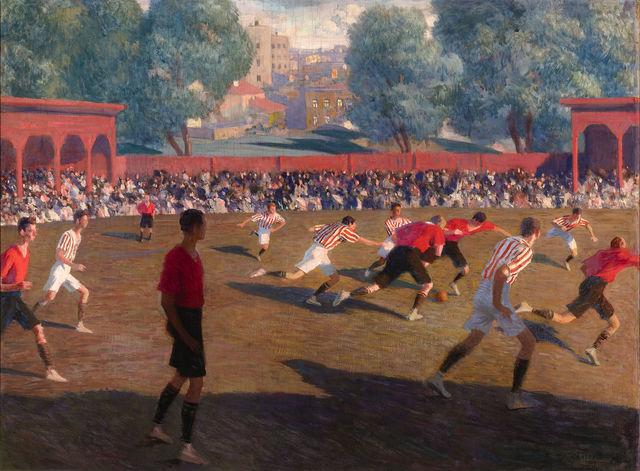 , 'Football,' ca. 1912, M.S. Rau Antiques