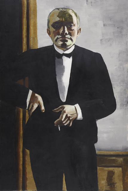 , 'Self-Portrait in Tuxedo (Selbstbildnis im Smoking),' 1927, Los Angeles County Museum of Art