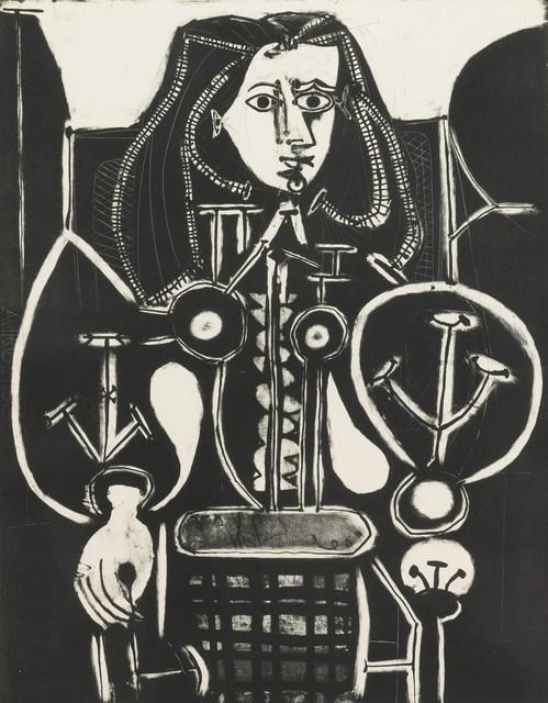, 'Femme Au Fauteuil No 4 (d'aprés le violet), [Armchair Woman No. 4 (from the violet)],' 1948, John Szoke