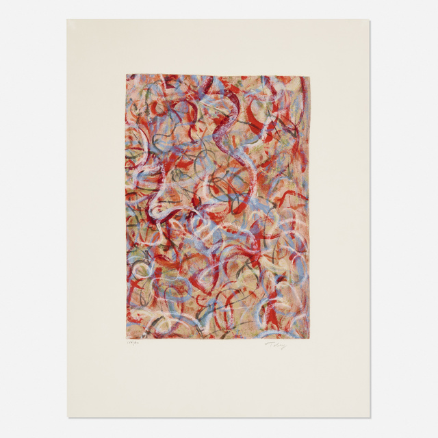 Mark Tobey, 'Flame of Colors (from the Homage to Tobey portfolio)', 1974, Wright