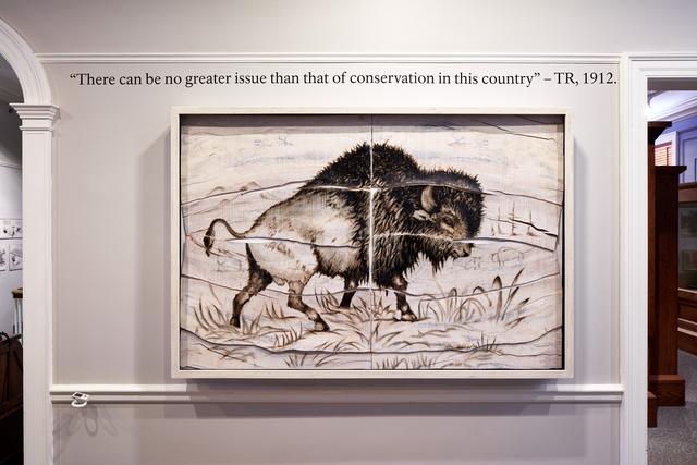 , 'Buffalo Engraving Painting,' 2017, Mark Moore Fine Art