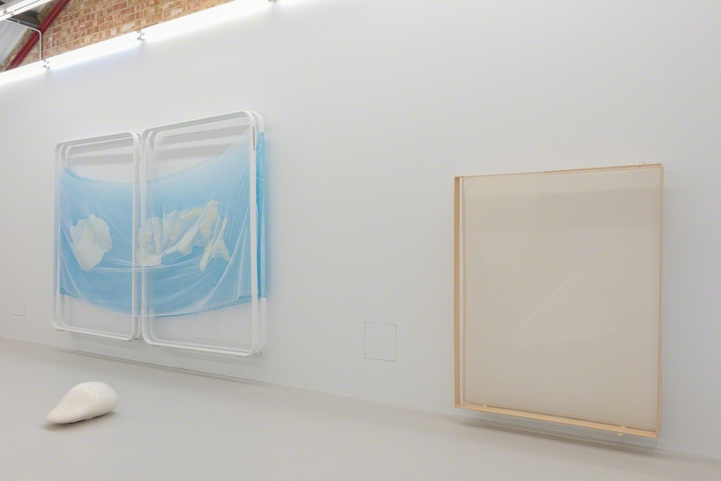 Installation view, Ittah Yoda 'I think mango you say salmon' at Annka Kultys Gallery, London 2016. Photo: Annka Kultys Gallery (Damian Griffiths)