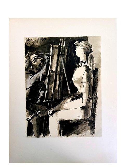 "Pablo Picasso, 'Lithograph ""Human Comedy VI"" after Pablo Picasso', 1954, Galerie Philia"