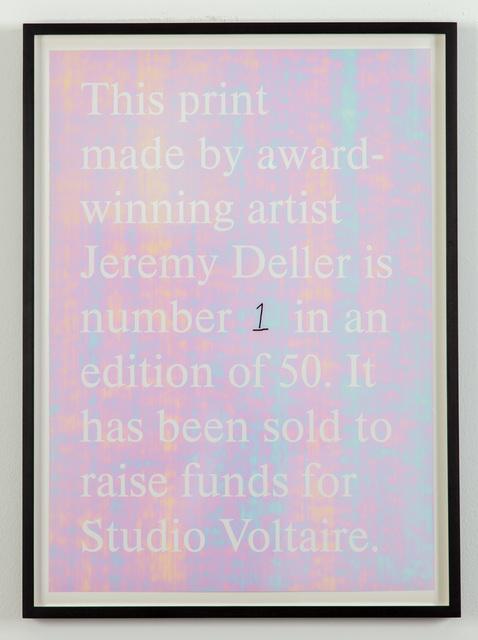 , 'Untitled ,' 2019, Studio Voltaire