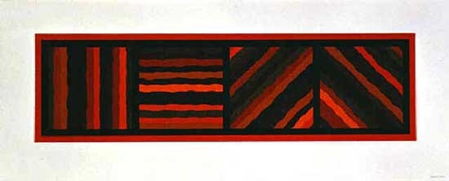 , 'Bands Not Straight in Four Directions (red),' 1999, Bernard Jacobson Gallery