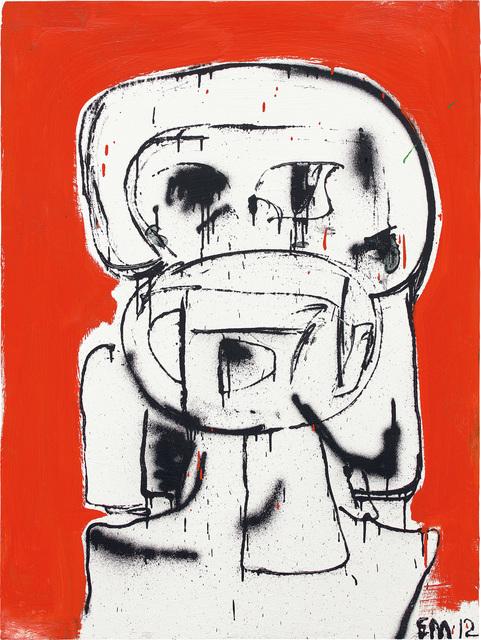 Eddie Martinez, 'Untitled', 2012, Painting, Oil, enamel and spray paint on panel, Phillips