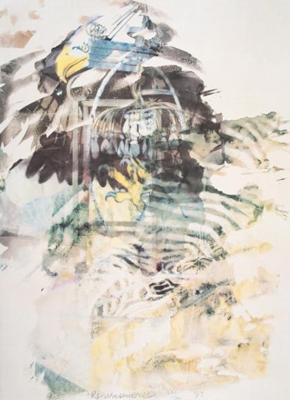 Robert Rauschenberg, 'Caucus from the portfolio of Leo Castelli's 90th Birthday', 1997, Hamilton-Selway Fine Art