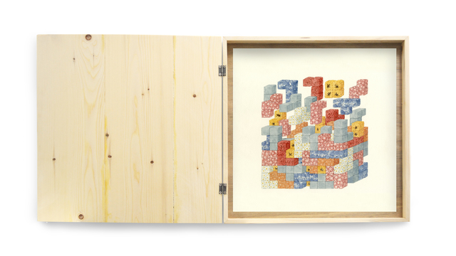 Carmen Ng, 'We Are Manipulating Nature Like Tetris', 2016, Painting, Watercolor on paper, wooden box, Karin Weber Gallery