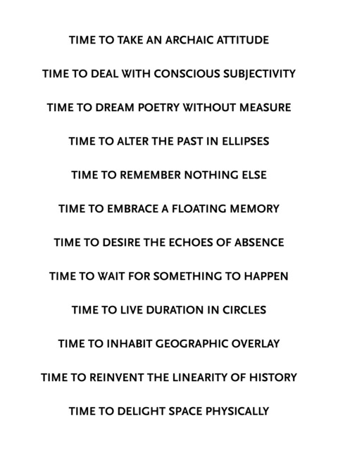 , 'Time to (...),' 2014, s o b e r i n g