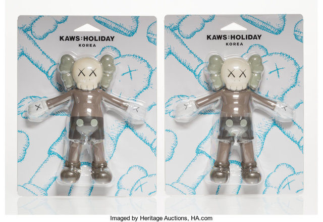 KAWS, 'Companion (Brown) (two works)', 2018, Other, Bath toy, Heritage Auctions