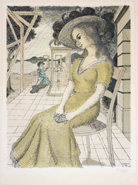 Paul Delvaux, 'Anne songeuse (Pensive Anne),' 1966, Phillips: Evening and Day Editions