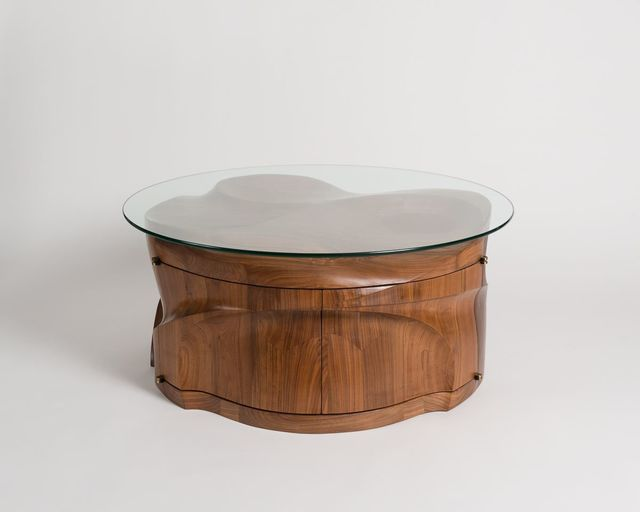 , 'Megalith, Round Coffee Table with Front-Opening Doors,' 2017, Maison Gerard
