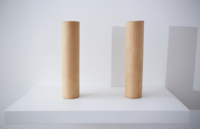 Franz Erhard Walther, 'two cardboard rolls (piece to overcome embarassment),' , Peter Freeman, Inc.