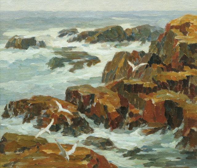 James J. Grant, 'Rocky Coast, Gloucester', 19th -20th Century, Vose Galleries