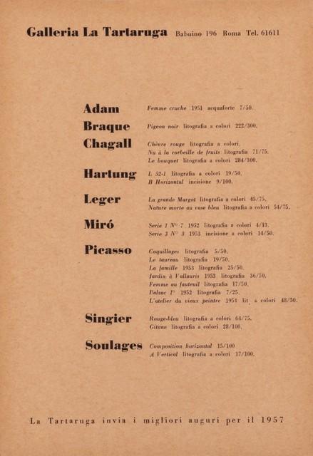 Various Artists, 'Group exhibit', 1956, Finarte