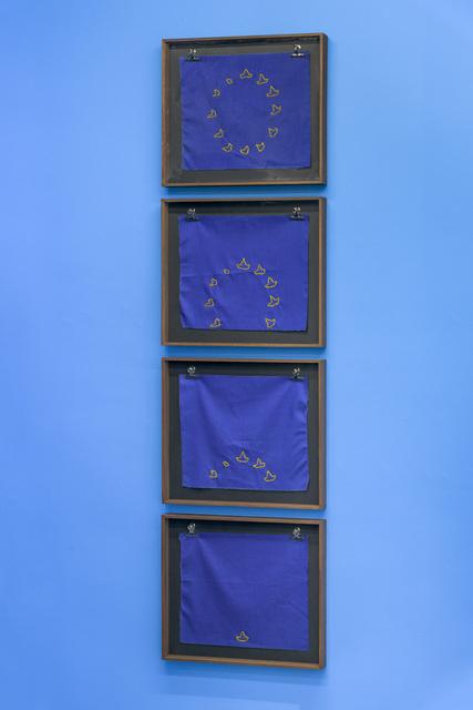 , 'Doce botes para un continente, europa,' 2016, Michel Rein Paris/Brussels