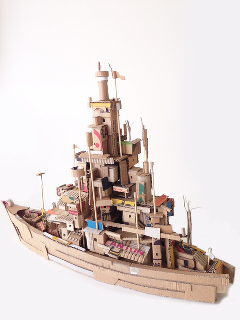 Alfredo and Isabel Aquilizan, ' Project another country ', 2016, Sculpture, Cardboard, NUNU FINE ART