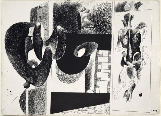 , 'Sans titre (Etude pour Nighttime, Enigma and Nostalgia),' 1931-1933, Galerie Zlotowski
