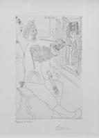 Pablo Picasso, ARTISTE PEINTRE AU TRAVAIL, AVEC UN MODELE LAID, FROM SERIES 347 (BLOCH 1711)
