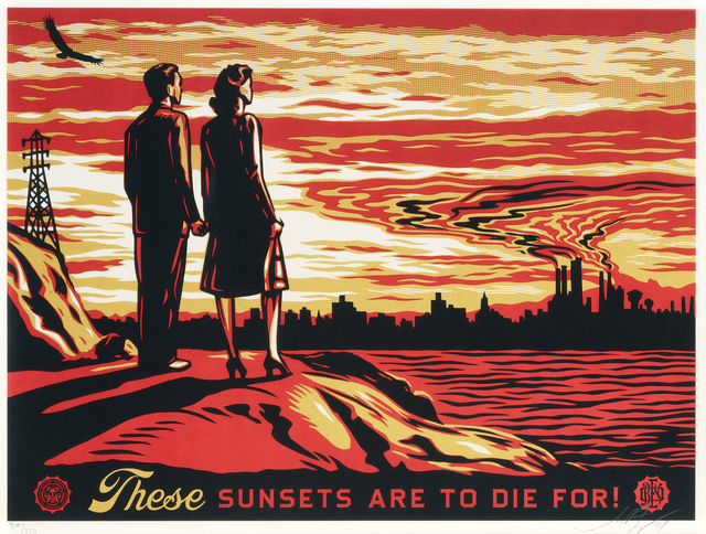 Shepard Fairey, 'These Sunsets Are To Die For', 2007, Tate Ward Auctions